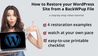How to Restore your WordPress Site from BackWPup